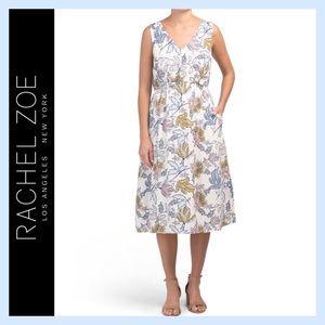 Rachel Zoe Vintage Floral Print Midi Dress